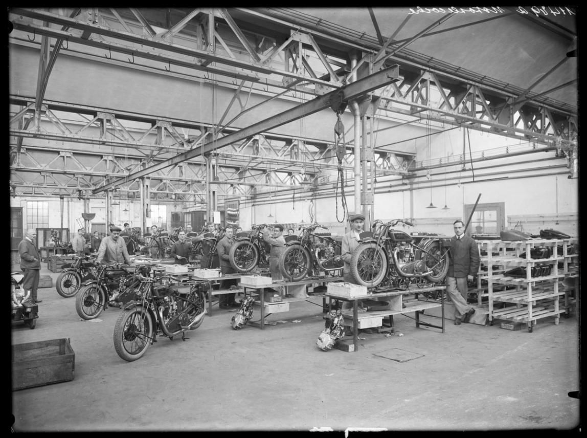 Looking back: from a motorcycle factory to a bank
