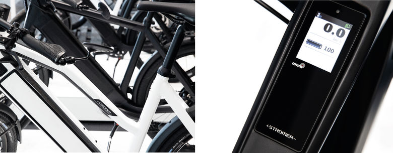The ST2 model integrated a GSM card that could perform similar functions to those available with a Tesla car. - The owner can locate his e-bike using an app on a smartwatch and to lock its rear wheel, and the bike can be started from a smartphone app – there is no button or code required.