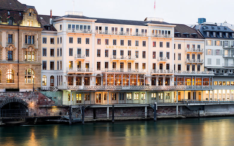 The Grand Hotel Les Trois Rois, Basel - The hotel sits on the Rhine in the historic centre of Basel, and is one of the oldest city hotels in Europe. The first record of The Three Kings dates back to 1681 when it was described as an inn for gentlemen.