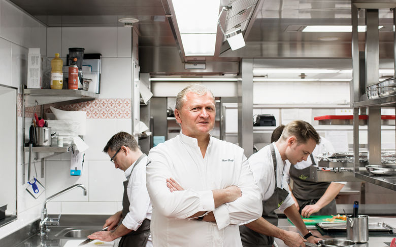 Peter Knogl - Peter Knogl at the Restaurant Cheval Blanc is the first Chef de Cuisine at a Swiss hotel to be awarded three stars in the Michelin Guide.